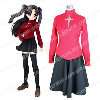 Fate Stay Night Rin Tosaka Cosplay Costume  any size