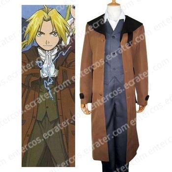 Fullmetal Alchemist Edward Halloween Cosplay Costume any size