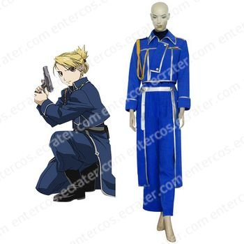 FullMetal Alchemist Riza Hawkeye Military Halloween Cosplay Costume any size