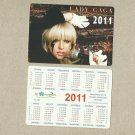 LADY GAGA RUSSIAN AND UKRAINIAN LANGUAGE CALENDAR BOOKMARK CARD 2011