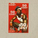 50 CENT CURTIS JAMES JACKSON III RUSSIAN LANGUAGE CALENDAR BOOKMARK CARD 2009