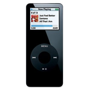 Black Apple iPod Nano 1GB MP3 Player - 1 GB