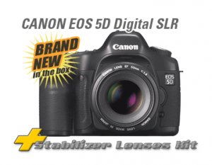 CANON EOS 5D 8GIG CARD 2 CANON IS USM LENSES & MORE!