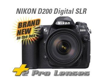 NIKON D200 SLR + $3500 3 lenses 2 gig 70-300mm & more