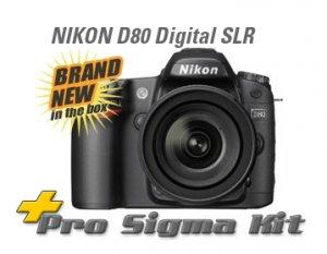 NEW Nikon D80 Digital SLR DSLR Camera 3 LENS & 4GB PKG