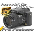 Panasonic Lumix DMC-FZ50K Camera DMC-FZ50 +2 LENS & 2GB