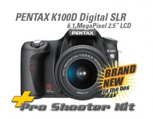 Pentax K100D SLR Digital +18-55/50-200mm 2Gb Pro KIT