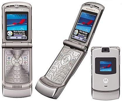 NEW MOTOROLA V3 SILVER RAZR PHONE GSM UNLOCKED IN BOX