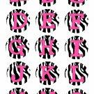 Pink Zebra Letters / Alphabet - Pre - Cut Bottle Cap Images