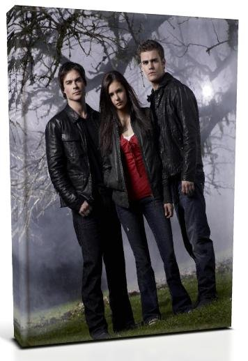 Vampire Diaries Main Characters (6) Canvas Print 12 x 16 (Print Run Limited to 50)