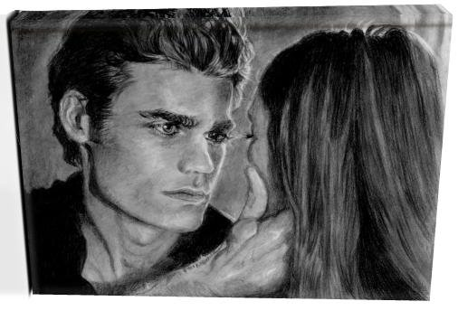 Vampire Diaries Two Main Characters (8) Canvas Print 12 x 16 (Print Run Limited to 50)