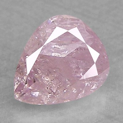 Natural Purple Pink Pear Diamond 0.26 cts