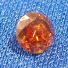 100% Natural Untreated Round Orange Red Diamond .48 ct