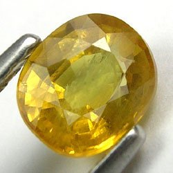 RARE 0.95cts 100% Natural Untreated Yellow Sapphire