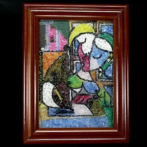 973.05cts Inlaid Gemstone PICASSO Style Art Picture
