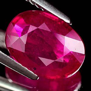 Large Natural Oval Cut Red Ruby Gemstone 3.64cts