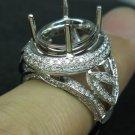 6.5Grams Solid 14K Gold 1.35cts Diamond G VS Semi Mount Ring