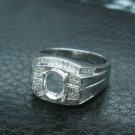 MENS (or Womens) 5.56grams 14K .36cts Diamond Ring Mount