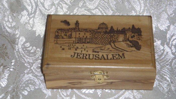 Olive Wood Box - Jerusalem