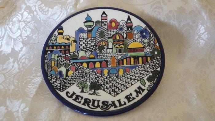 Armenian Ceramic Decorative Dish- Jerusalem