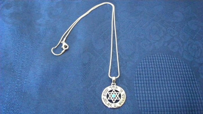 "Necklace With Prayer - ""Shma Israel"""