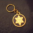 Sturdy Keychain -Magen David and Chai