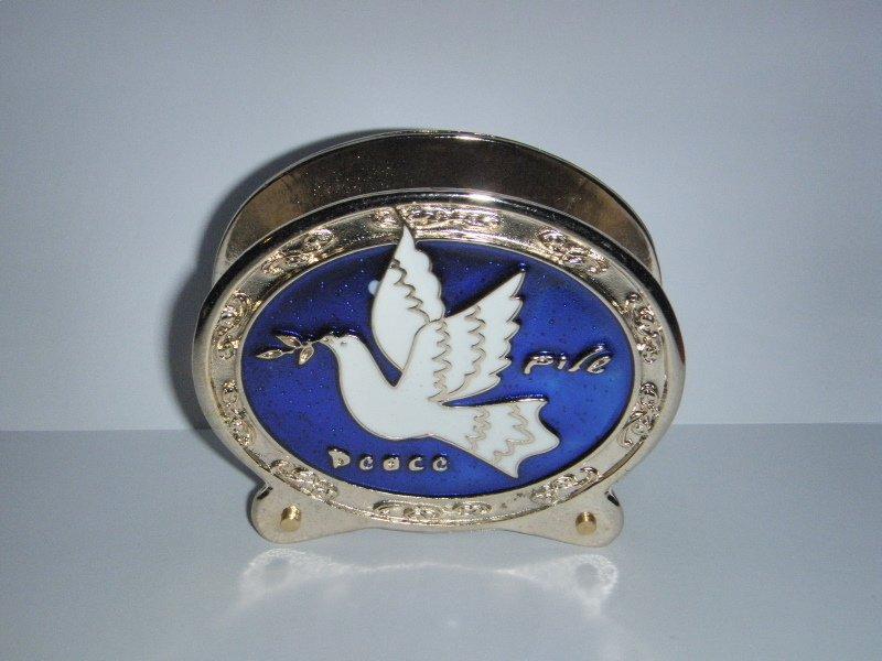 Decorative Napkin / Envelope Holder - Peace Dove - Shalom