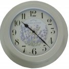New Crabtree & Evelyn Wall Clock - Water Resistant for Indoor/Outdoor Use (C-527)