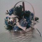 Silver Bells Christmas Basket