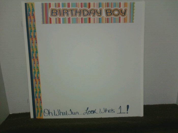 Look Who's One Birthday Scrapbook Page