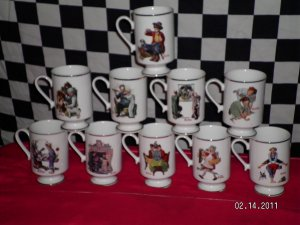 norman rockwell coffee mugs