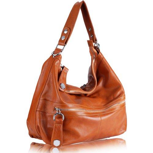 Italian Genuine Leather Brown Women Handbag