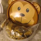 6oz Vegan Dog Treats Pumpkin Peanut Butter Med Treats Reusable Container