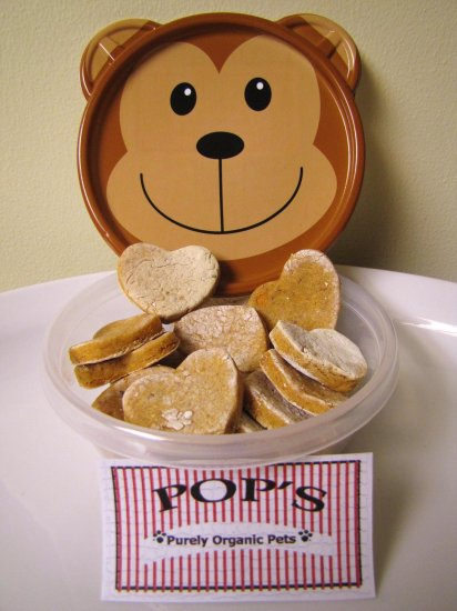 Chicken Sweet Potato Hearts - All Natural Dog Treats 8oz