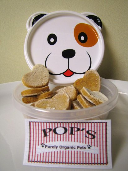 Chicken Sweet Potato Hearts - All Natural Dog Treats 8oz
