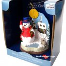 Santa Best Frosty Snowman Illuminated Cabin Lighted Musical Ornament White Christmas