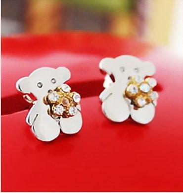 "Tous Stud Earrings ""Flora"" Design"
