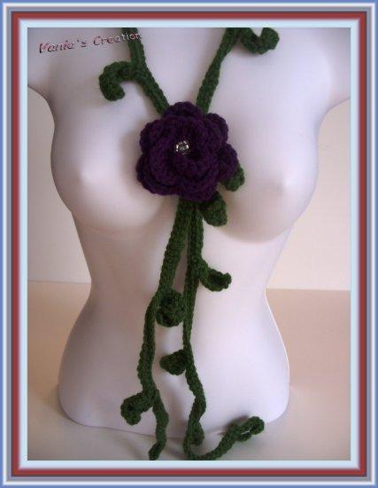 Purple Rose Necklace