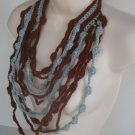 Maxi Cascate Necklace Gray and Dark Red