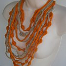 Maxi Cascate Necklace Cream and Orange