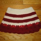 Crochet skirt for girls Red