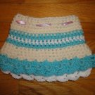 Crochet Skirt for Girls Blue