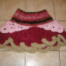 Crochet pink girl skirt