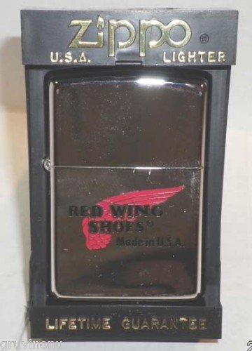Red Wing Zippo Lighter 1996 NIB Irish Setter