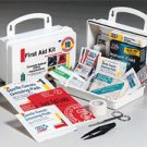 10 Person 62 piece First Aid Kit Plastic Case w/ Gasket