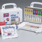 10 Unit 46 Piece ANSI First Aid Kit Plastic Case