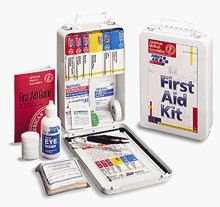 Vehicle Auto Fleet Commercial OSHA First Aid Kit 93 Piece Metal Case