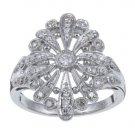 10k White Gold 2/5 TDW Vintage Style Diamond Ring