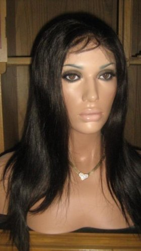 """14"""" Silky Straight Indian Remy Full Lace Wig"""