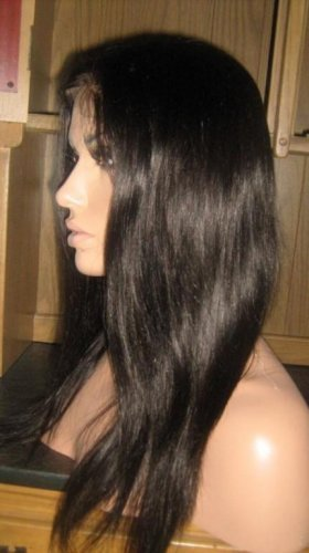 """16""""  Silky Straight Indian Remy Full Lace Wig"""